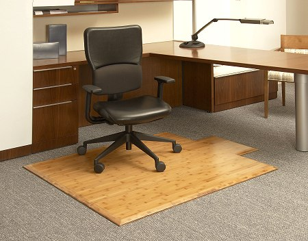 bamboo office chair mat and floor protector. Black Bedroom Furniture Sets. Home Design Ideas